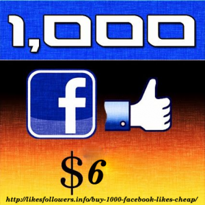 Buy 1000 Facebook Likes cheap
